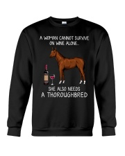 Wine and Thoroughbred Crewneck Sweatshirt thumbnail