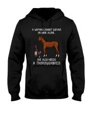 Wine and Thoroughbred Hooded Sweatshirt thumbnail