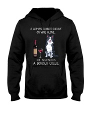 Wine and Border Collie  Hooded Sweatshirt thumbnail