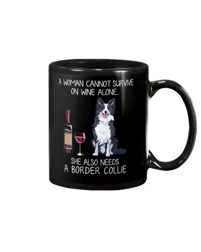 Wine and Border Collie