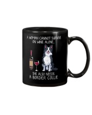Wine and Border Collie  Mug thumbnail
