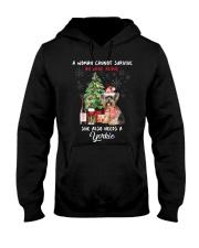 Christmas Wine and Yorkie Hooded Sweatshirt thumbnail