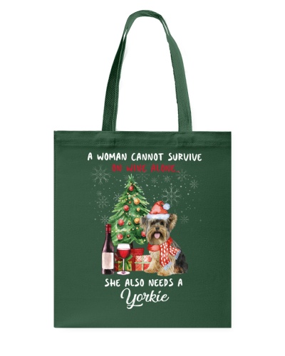 Christmas Wine and Yorkie