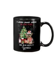 Christmas Wine and Yorkie Mug thumbnail