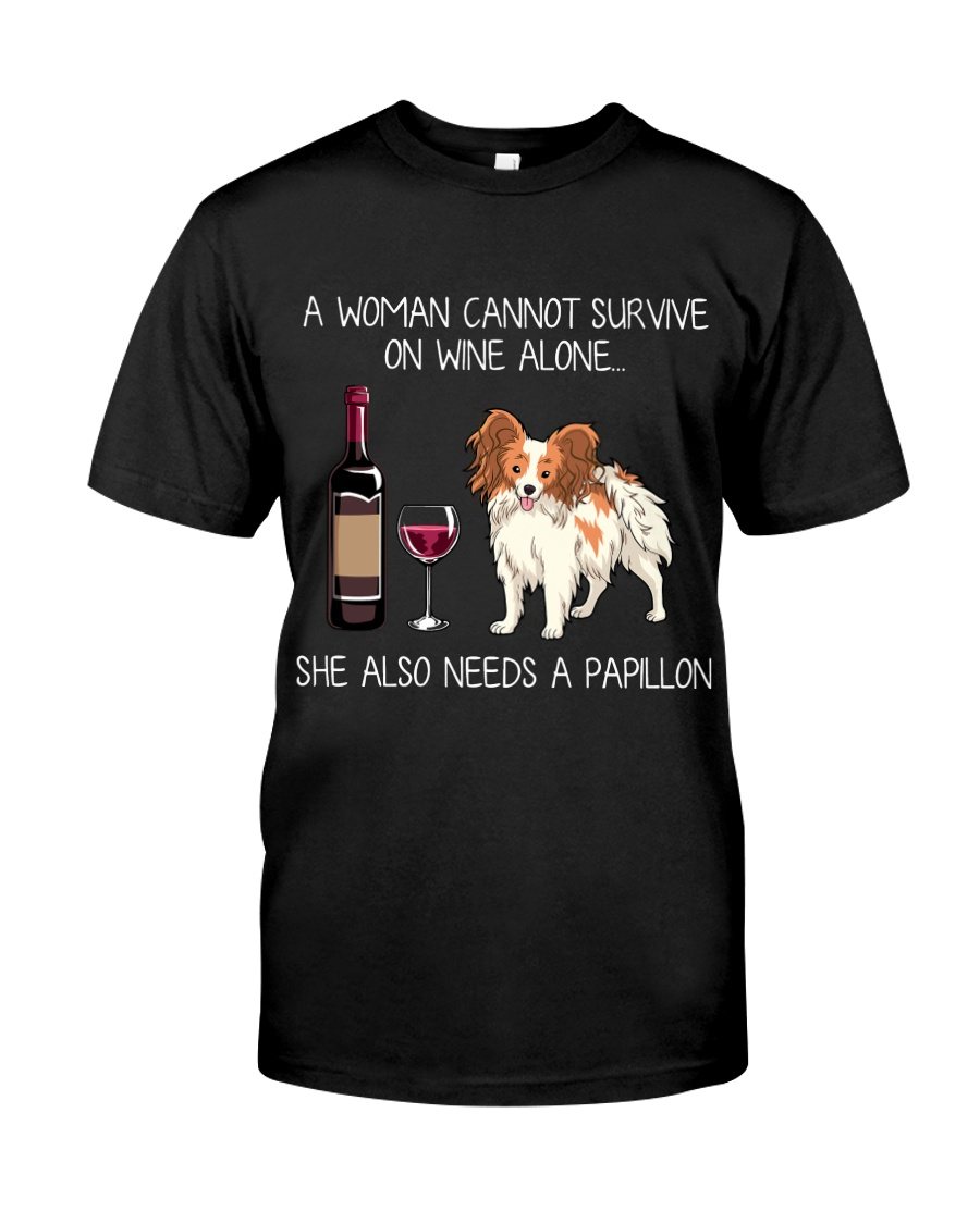 Wine and Papillon Classic T-Shirt