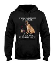 Wine and English Mastiff Hooded Sweatshirt thumbnail