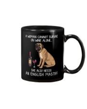 Wine and English Mastiff Mug thumbnail