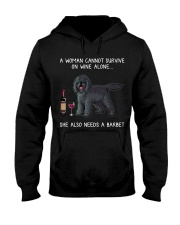 Wine and Barbet Hooded Sweatshirt thumbnail