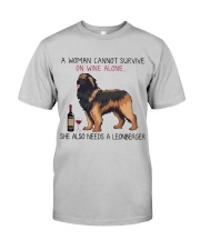 Wine and Leonberger 2 Classic T-Shirt front