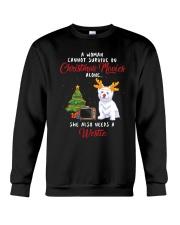 Christmas Movies and Westie Crewneck Sweatshirt thumbnail