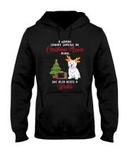 Christmas Movies and Westie Hooded Sweatshirt thumbnail