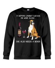 Wine and Boxer Crewneck Sweatshirt thumbnail