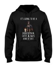 Doberman Coffee and Naps Hooded Sweatshirt thumbnail