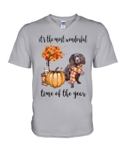 The Most Wonderful Time - Boykin Spaniel V-Neck T-Shirt thumbnail