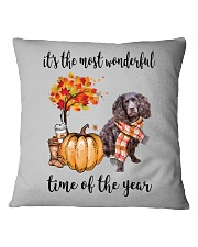 The Most Wonderful Time - Boykin Spaniel Square Pillowcase thumbnail