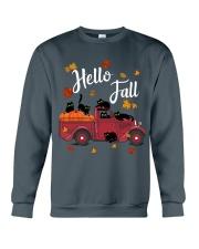 Cats Hello Fall  Crewneck Sweatshirt thumbnail
