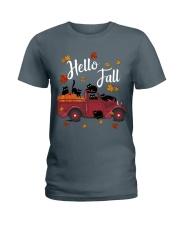 Cats Hello Fall  Ladies T-Shirt thumbnail