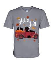 Cats Hello Fall  V-Neck T-Shirt thumbnail