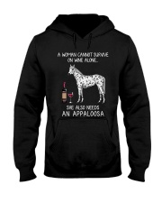 Wine and Appaloosa Hooded Sweatshirt thumbnail