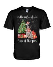 The Most Wonderful Xmas - English Setter V-Neck T-Shirt thumbnail
