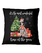 The Most Wonderful Xmas - English Setter Square Pillowcase thumbnail