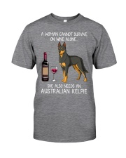 Wine and Australian Kelpie Classic T-Shirt front