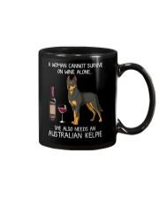 Wine and Australian Kelpie Mug thumbnail