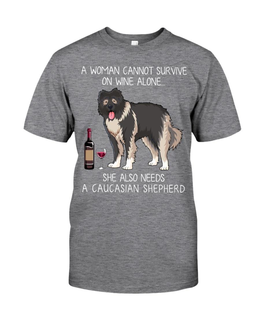 Wine and Caucasian Shepherd Classic T-Shirt