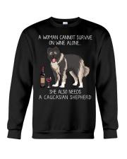 Wine and Caucasian Shepherd Crewneck Sweatshirt thumbnail