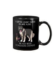 Wine and Caucasian Shepherd Mug thumbnail