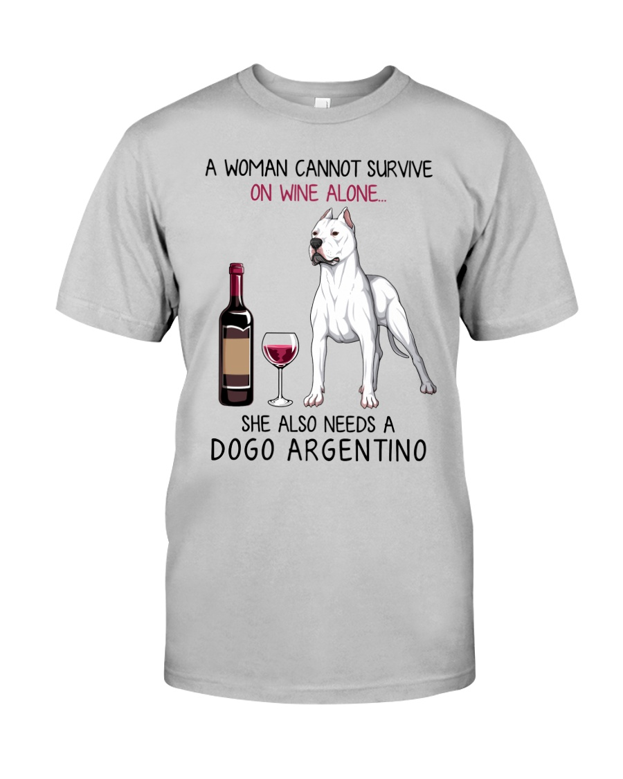 Wine and Dogo Argentino 2 Classic T-Shirt
