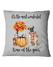 The Most Wonderful Time - Bullmastiff Square Pillowcase thumbnail