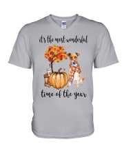 The Most Wonderful Time - Jack Russell Terrier V-Neck T-Shirt thumbnail