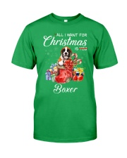 All I Want For Christmas Is Boxer Classic T-Shirt front