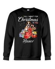 All I Want For Christmas Is Boxer Crewneck Sweatshirt thumbnail