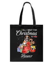 All I Want For Christmas Is Boxer Tote Bag thumbnail