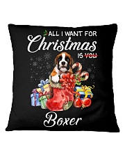 All I Want For Christmas Is Boxer Square Pillowcase thumbnail