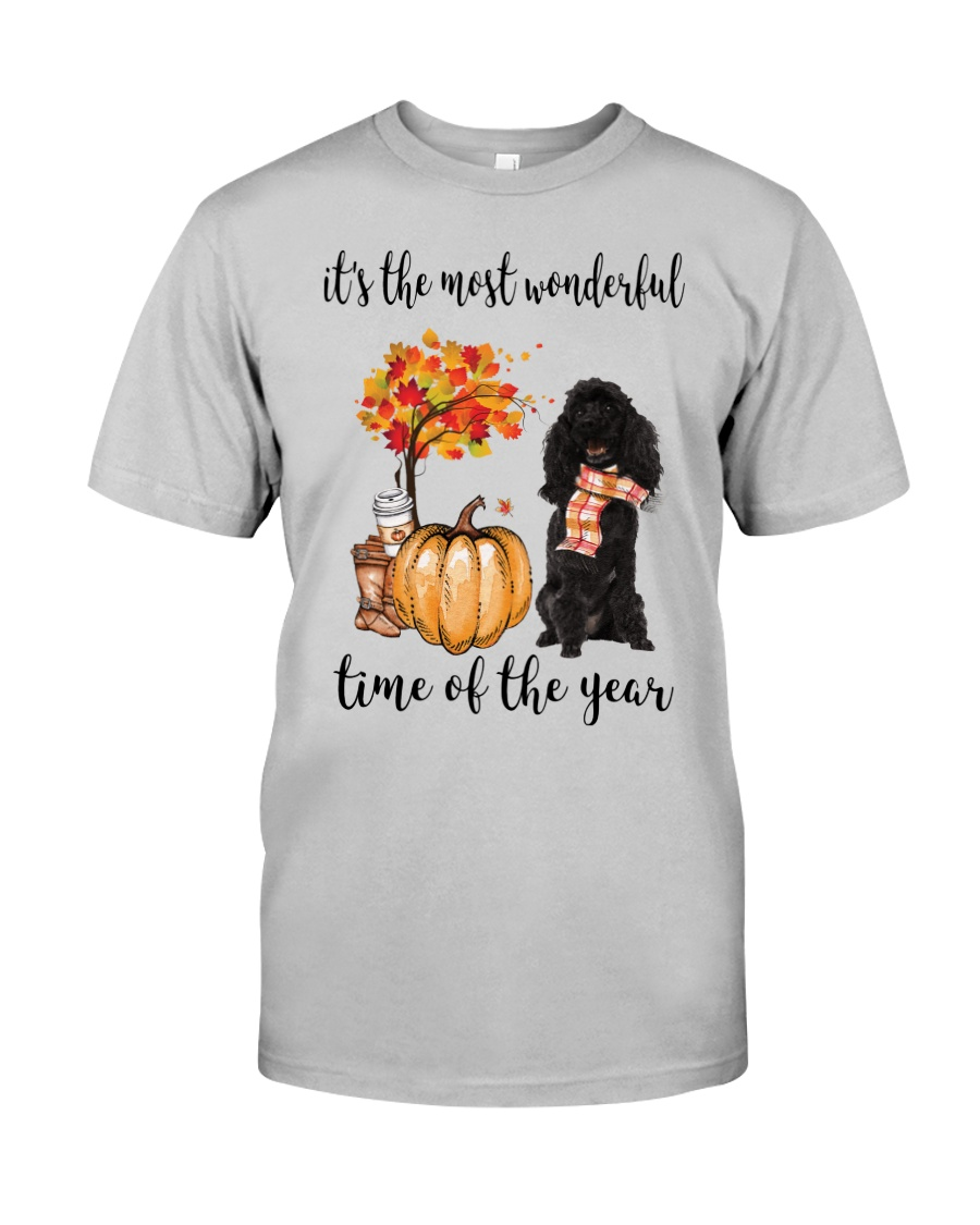 The Most Wonderful Time - Black Poodle Classic T-Shirt