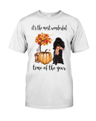 The Most Wonderful Time - Black Poodle