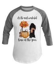 The Most Wonderful Time - Black Poodle Baseball Tee thumbnail