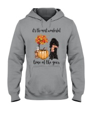 The Most Wonderful Time - Black Poodle Hooded Sweatshirt thumbnail