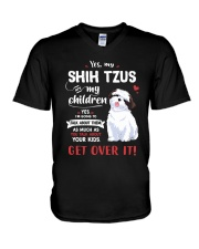 My Shih Tzus - My Children V-Neck T-Shirt thumbnail