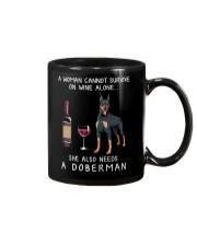 Wine and Doberman Mug thumbnail