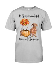 The Most Wonderful Time - Brown Dachshund Classic T-Shirt front