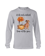 The Most Wonderful Time - Brown Dachshund Long Sleeve Tee thumbnail
