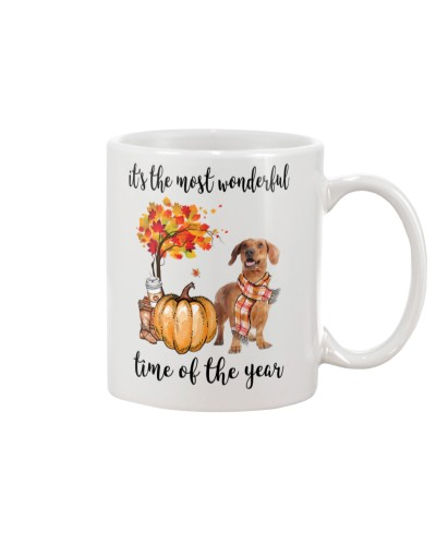 The Most Wonderful Time - Brown Dachshund