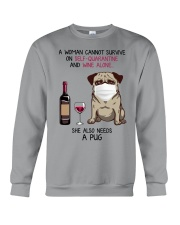 Cannot Survive Alone - Pug Crewneck Sweatshirt thumbnail