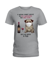 Cannot Survive Alone - Pug Ladies T-Shirt thumbnail