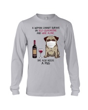 Cannot Survive Alone - Pug Long Sleeve Tee thumbnail