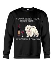 Wine and Chow Chow Crewneck Sweatshirt thumbnail